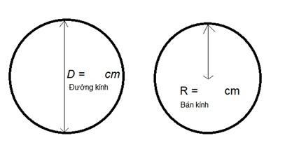 cách đo kích thước kính mặt bàn hình tròn và hình elip