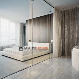 Vách kính phòng ngủ